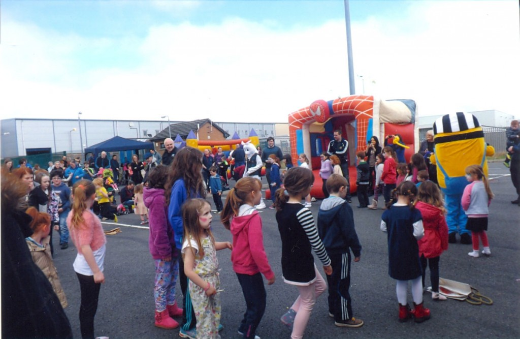 Having a blast at the recent Family Fun Day at the Letterkenny Retail Park.
