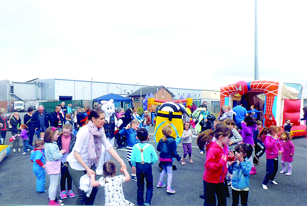 Having a ball at the Letterkenny Retail Park Family Fun Day.