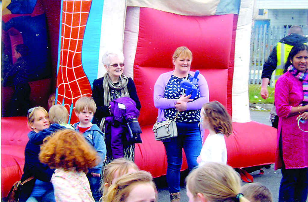 Teresa Callaghan from BUrt enjoying the Family Fun Day.